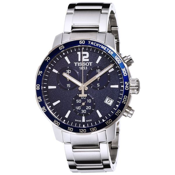 Shop tissot men 39 s t0954171104700 39 quickster 39 chronograph stainless steel watch free shipping for Celebrity tissot watches
