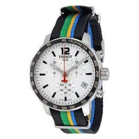 Tissot Men's  'Quickster Limited Edition Baku 2015' Chronograph Colorful Canvas Watch