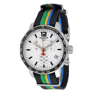 Tissot Men's T0954171703702 'Quickster Limited Edition Baku 2015' Chronograph Colorful Canvas Watch