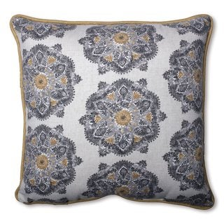 Pillow Perfect Suri Medallion Greystone Throw Pillow