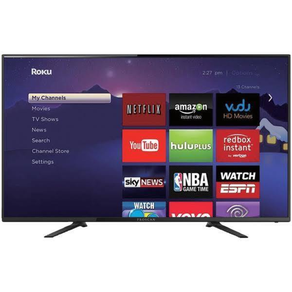 proscan 42inch led smart tv 4k ultrahd refurbished