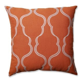 Pillow Perfect Cassie Tangerine Throw Pillow