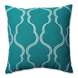 Pillow Perfect Cassie Aqua Throw Pillow
