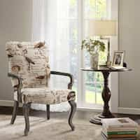 Madison Park Joni Ivory Multi Goose Neck Arm Chair Deals