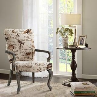 Madison Park Joni Ivory Multi Goose Neck Arm Chair