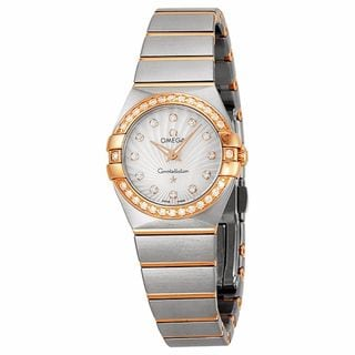 Omega Women's 12325246055002 Constellation White MOP Watch
