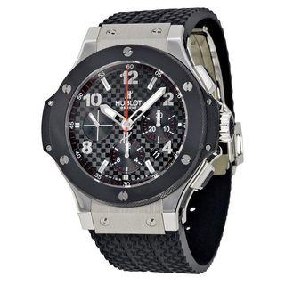 Hublot Men's 301.SB.131.RX 'Big Bang Evolution Black Magic' Chronograph Automatic Carbonfiber Black Rubber Watch