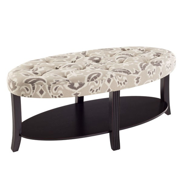Bombay Company Kennedy Oval Tufted Coffee Table Free Shipping Today 17879877