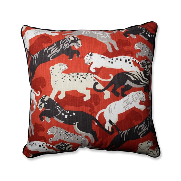 Pillow Perfect Rajita Tiger Persimmon Throw Pillow