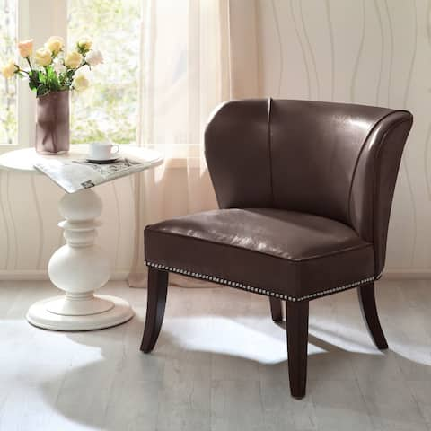 Madison Park Sheldon Brown Concave Back Armless Chair