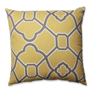 Pillow Perfect Bali Butterscotch Throw Pillow