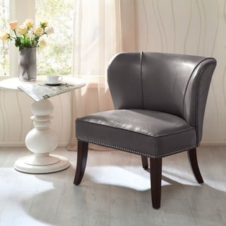 Madison Park Sheldon Concave Back Armless Grey Accent Chair & Buy Accent Chairs Madison Park Living Room Chairs Online at ...