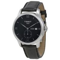 Tissot Men's T0064281605801 'T-Classic Le Locle' Automatic Black Leather Watch