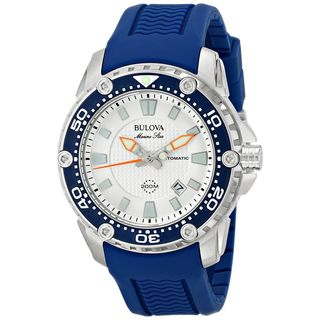 Bulova Men's 98B208 'Marine Star' Automatic Blue Rubber Watch