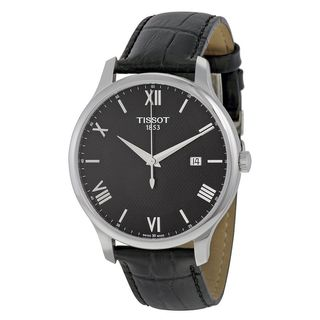 Tissot Men's T0636101605800 'Tradition' Black Leather Watch