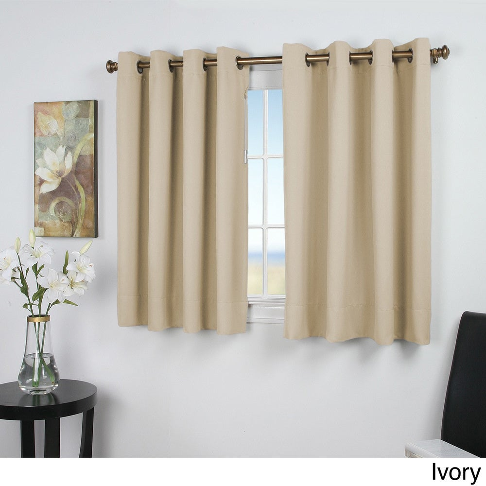 Shop Ultimate Blackout 54-Inch Short Length Grommet Curtain Panel - Overstock - 10837876