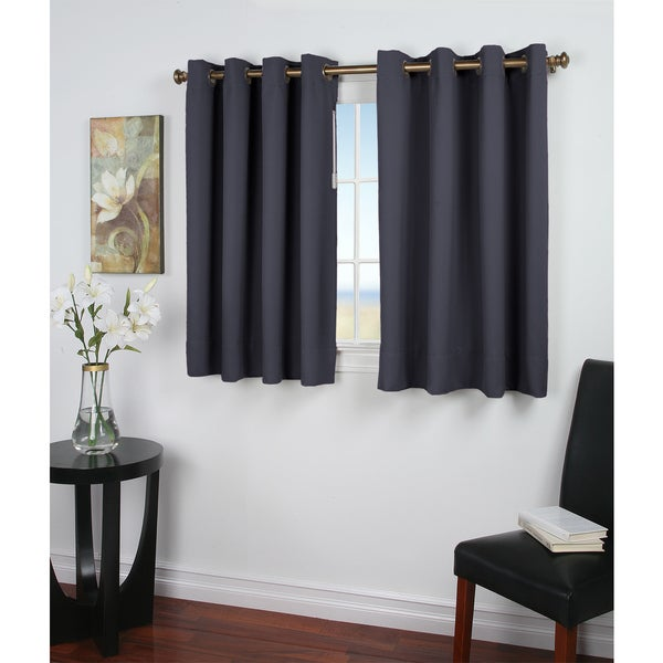 Ultimate Blackout 54 Inch Grommet Panel Curtain With Attachable Pull Wand