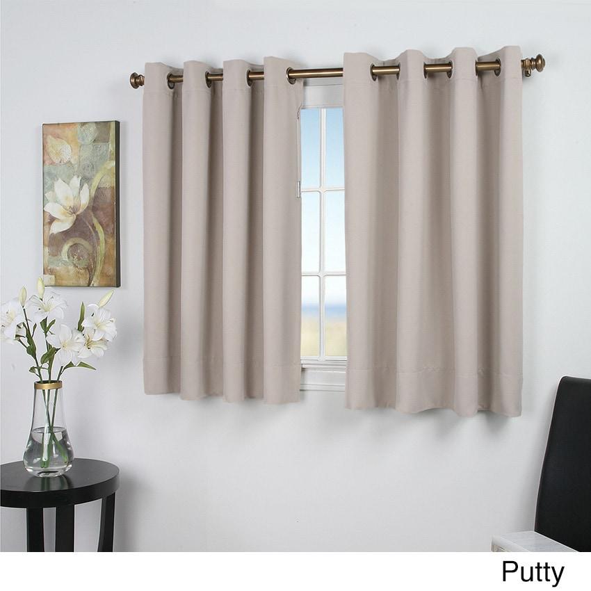 Drape Lengths: Ultimate Blackout 54-Inch Short Length Grommet Curtain