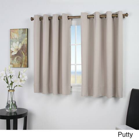 Ultimate Blackout 54-Inch Short Length Grommet Curtain Panel