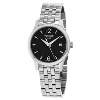 Tissot Men's T063.210.11.057.00 'Tradition' Black Dial Stainless Steel Swiss Quartz Watch|https://ak1.ostkcdn.com/images/products/10837881/P17879957.jpg?impolicy=medium