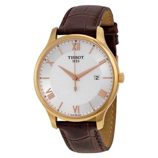 Tissot Men's T0636103603800 'Tradition' Brown Leather Watch