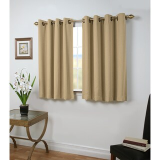 Grand Pointe 45 inch Length Grommet Blackout Panel with attachable wand (3 options available)