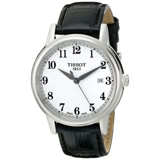 Tissot Men's T0854101601200 'T-Classic Parson' Black Leather Watch