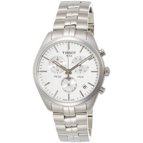Tissot Men's T1014171103100 'PR 100' Chronograph Stainless Steel Watch
