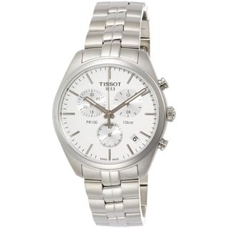 Link to Tissot Men's T1014171103100 'PR 100' Chronograph Stainless Steel Watch Similar Items in Men's Watches