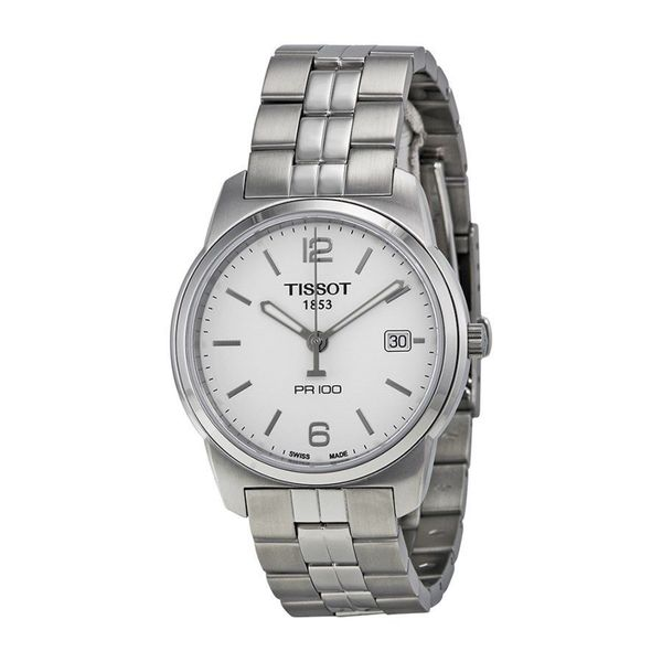 Tissot Men's T0494101101700 'PR 100' Stainless Steel Watch. Opens flyout.