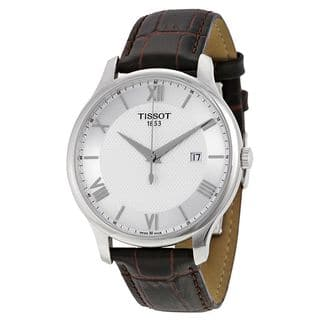Tissot Men's T0636101603800 'T-Classic Tradition' Brown Leather Watch|https://ak1.ostkcdn.com/images/products/10837912/P17879970.jpg?impolicy=medium