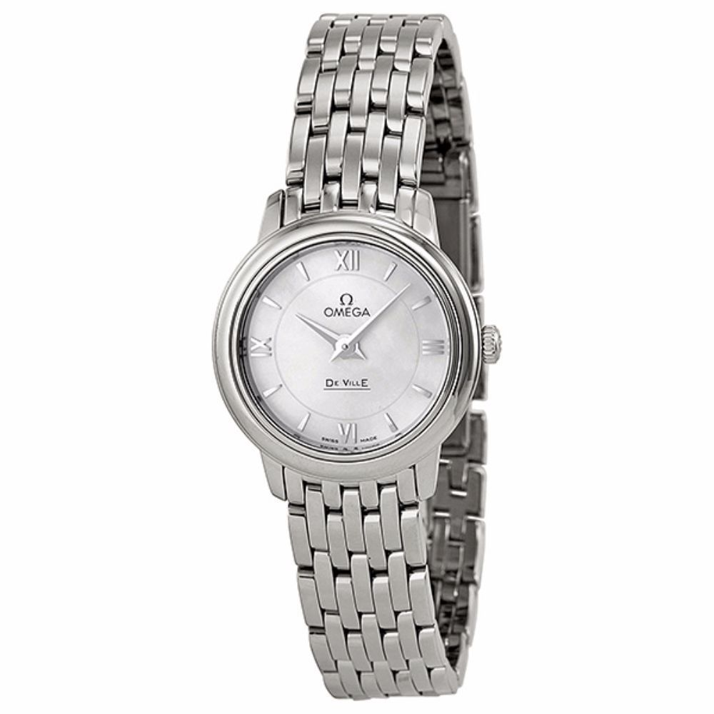 Omega Women's 42410246005001 De Ville White MOP Watch (Wh...