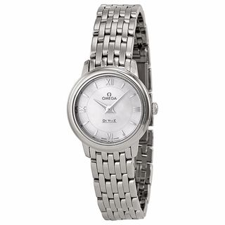 Omega Women's 42410246005001 De Ville White MOP Watch