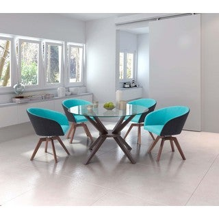 Cell Round Glass Top Dining Table