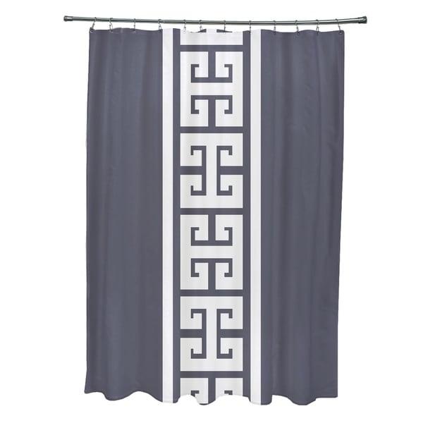 Key Stripe Stripe Print 71x74-inch Shower Curtain