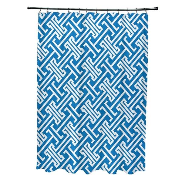 Leeward Key Geometric Print 71x74-inch Shower Curtain