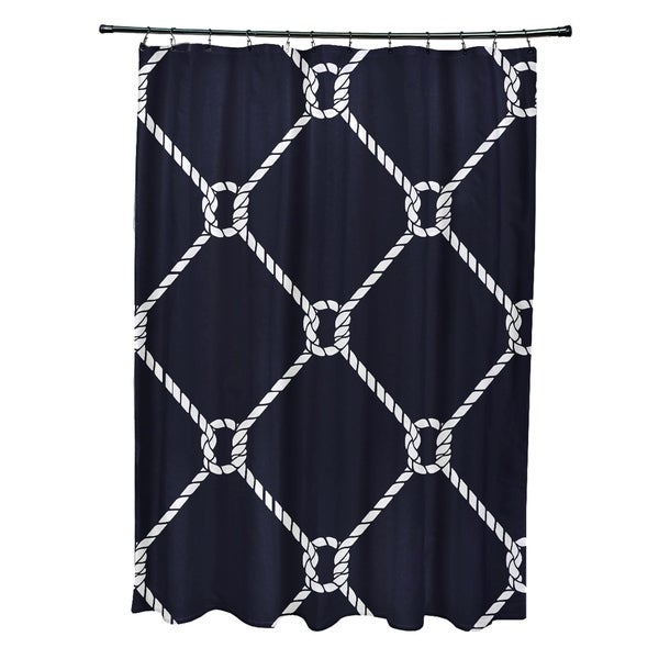 Ahoy Geometric Print 71x74-inch Shower Curtain