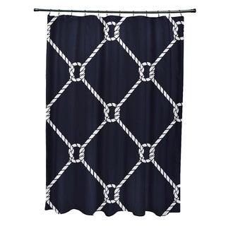 Ahoy Geometric Print 71x74-inch Shower Curtain
