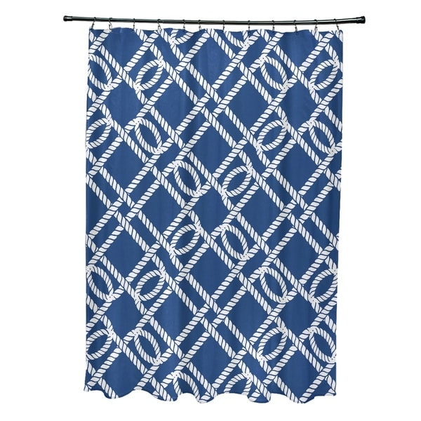 Know the Ropes Geometric Print 71x74-inch Shower Curtain