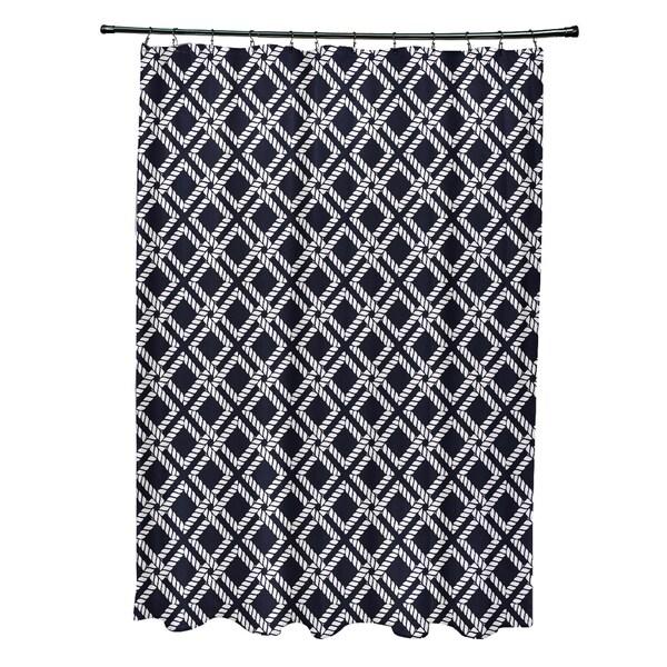 Rope Rigging Geometric Print 71x74-inch Shower Curtain