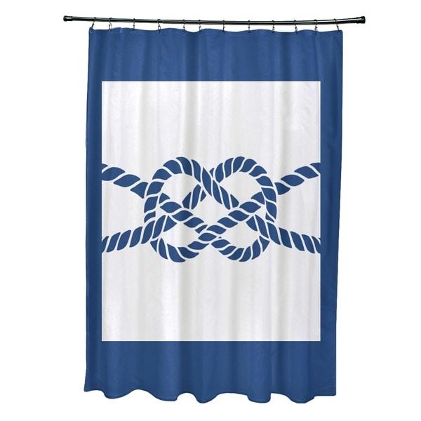 Nautical Knot Geometric Print 71x74-inch Shower Curtain