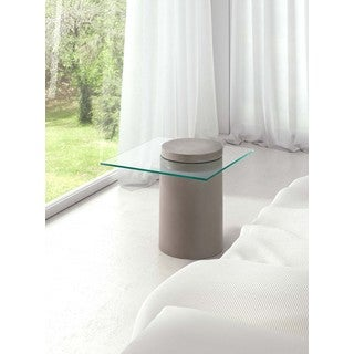 Monolith Square Glass Top Side Table