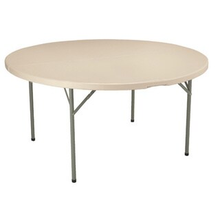 "KFI Seating 60"" Dia. Round Blow Mold Folding Table"
