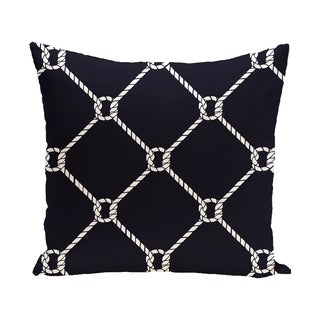Ahoy Geometric Print 18-inch Outdoor Pillow