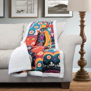 Lush Decor Maya Sherpa Throw Blanket