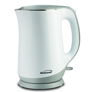 Brentwood KT-2017W White Cool Touch 1.7-liter Electric Kettle