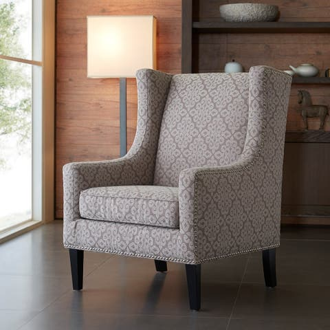 Madison Park Weston Beige/ Natural Wing Chair