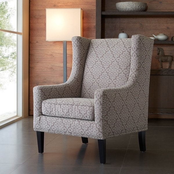 Madison Park Weston Beige/ Natural Wing Chair. Opens flyout.