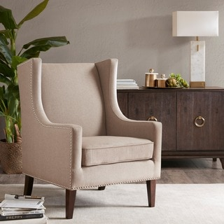 Madison Park Weston Wing Chair--Taupe