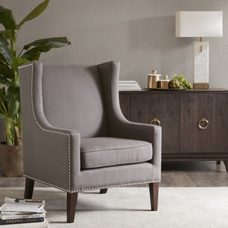 Madison Park Weston Wing Chair--Charcoal